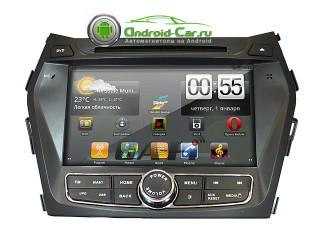 Штатная автомагнитола на Android для Hyundai Santa Fe New (DM) 2013