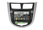 Штатная автомагнитола на Android для Hyundai Solaris