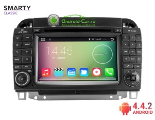SMARTY Classic. Штатная автомагнитола на Android 4.4.2 для Mercedes-Benz S-Classe W220, HD экран 1024x600, 1.6 gHz проц, 1GB RAM DDR3