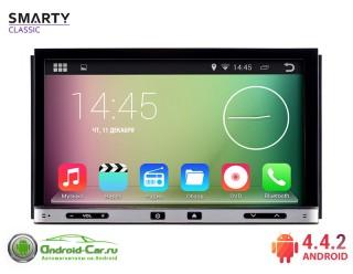 SMARTY Classic. Универсальная 2DIN автомагнитола на Android 4.4.2. HD экран 1024x600, 1.6 gHz проц, 1GB RAM DDR3