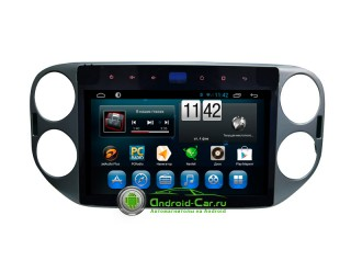 Carmedia Tiguan. Штатная автомагнитола на Android 4.2 для Volkswagen Tiguan, 10.1' HD экран 1024x600, 1 gHz проц, 1GB RAM DDR3
