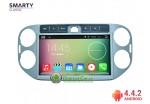 SMARTY Classic. Штатная автомагнитола на Android 4.4.2 для Volkswagen Tiguan, 10.1' HD экран 1024x600, 1.6 gHz проц, 1GB RAM DDR3