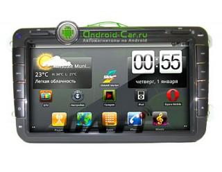Ca-Fi. Штатная автомагнитола на Android для Volkswagen 8 дюйм. экран,1gHz проц, 512 RAM, емкостной экран с Multitouch