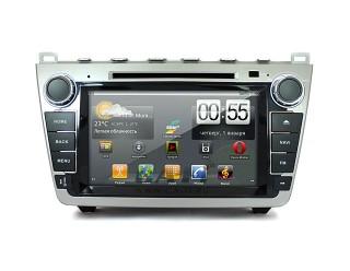 Ca-Fi. Штатная автомагнитола на Android для Mazda 6 New  (silver) 800 mHz проц, 256 RAM, резистивный экран