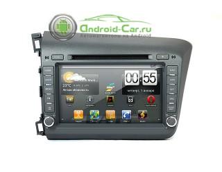 Штатное головное устройство на Android для Honda Civic. Ca-Fi.