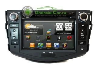 Штатное головное устройство на Android для Toyota Rav4. Ca-Fi.